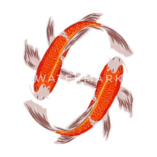 d0433dc2b6d429 Koi fish ying yang owner carp fish lovers gift Mouse Pad | Spreadshirt
