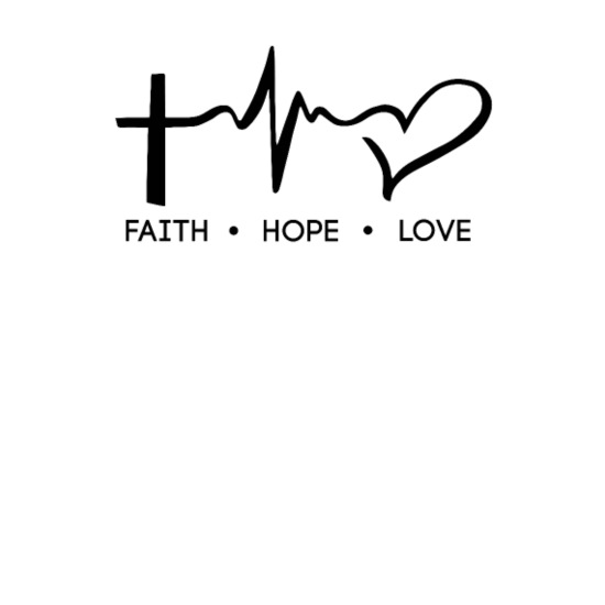 Faith, Hope, Love, Christian, Bible Verse, Quote Mouse pad Horizontal -  white