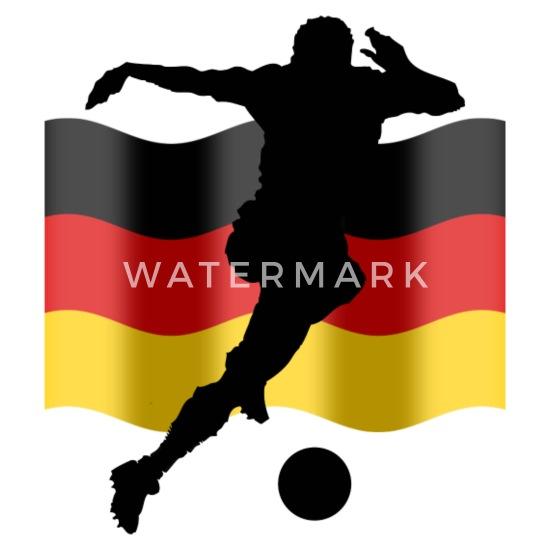 Fussball Deutschland Fahne Mouse Pad Horizontal White