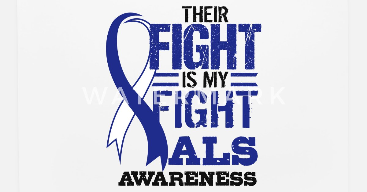 ALS Awareness Lou Gehrig s Disease Blue Ribbon Mouse Pad | Spreadshirt