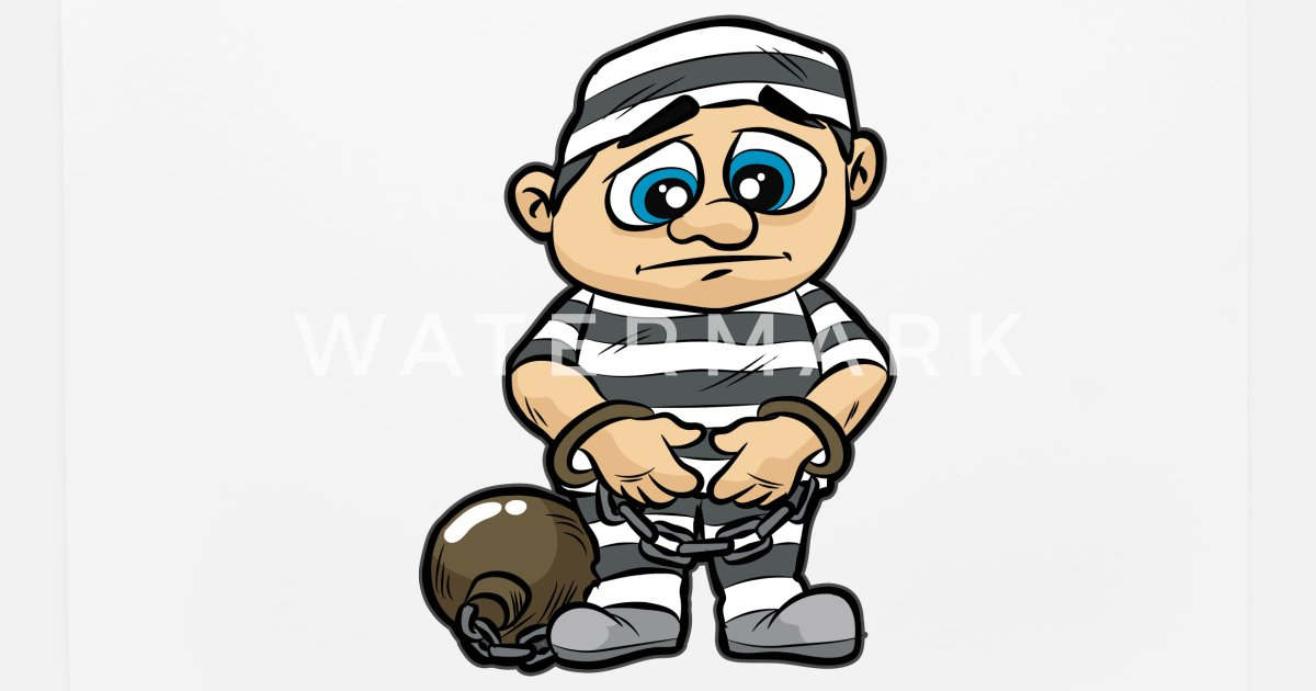 Prisoner Jail Prison Detainee Cuffs Chained Comic Mouse Pad Spreadshirt