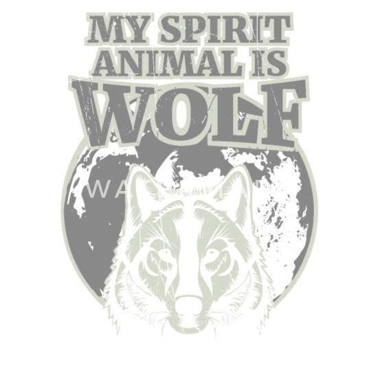 My Spirit Animal is Wolf - Spirit Animal Shirt Mouse pad Horizontal - white