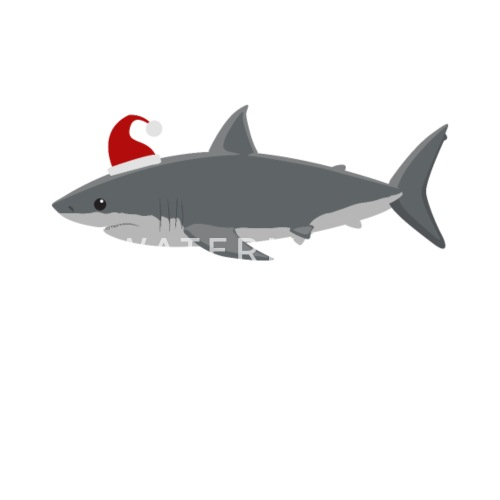 e5d986fa7eb2a3 Kids Santa Shark Christmas print Cute Kids Shark Mouse Pad | Spreadshirt