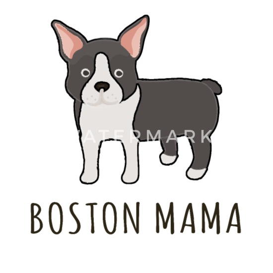 Cute Red Boston Terrier Shirt Boston Mama Gift Mouse Pad Spreadshirt