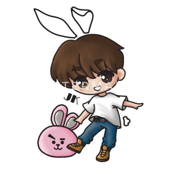 Jungkook Bunny Chibi Kpop Mouse Pad Spreadshirt
