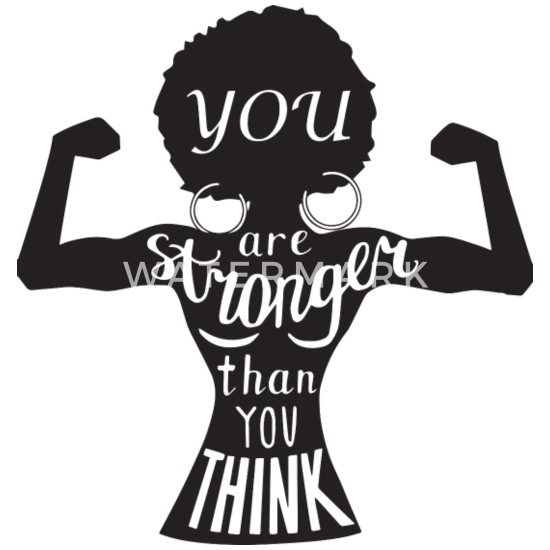 people afro strong quotes Black Woman Nubian Mouse pad Horizontal - white