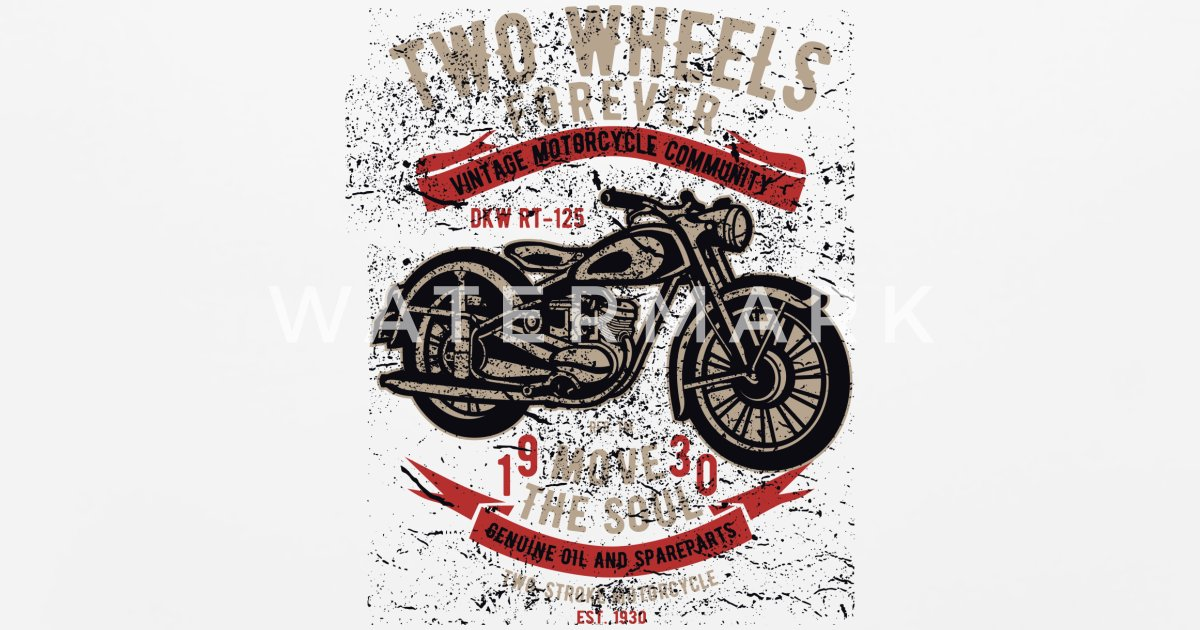 Two Wheels Forever - Motorbiker T Limited Edition Mouse Pad | Spreadshirt