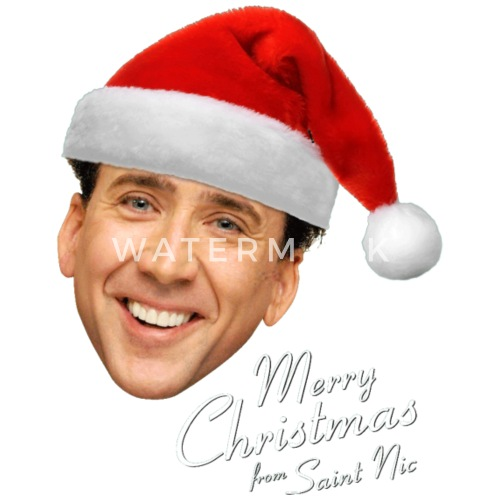 Merry Christmas From St Nicolas Cage By Katrinakailey Spreadshirt