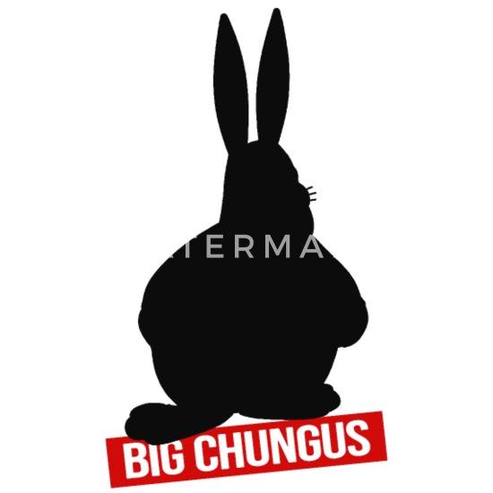 Big Chungus Black Meme Mouse Pad Spreadshirt