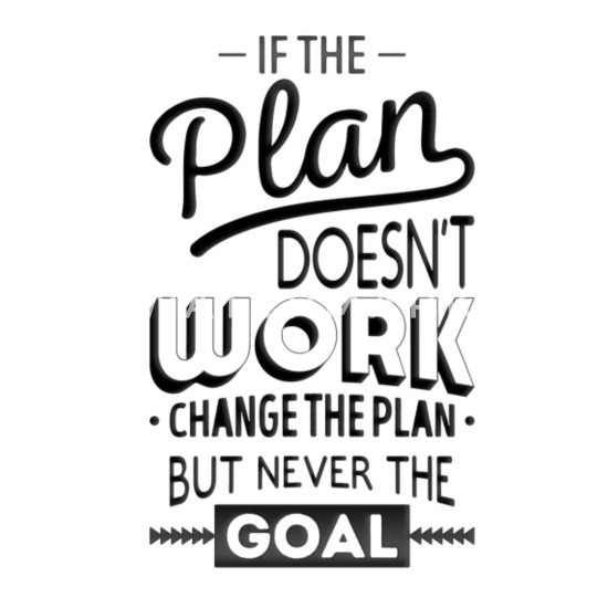 If the plan does not work funny quotes 01 Mouse pad Horizontal - white