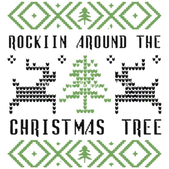 Rockin Around The Christmas Tree.Rockin Around The Christmas Tree Mouse Pad Horizontal White