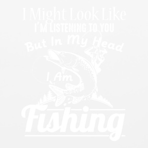 IN MY HEAD I'M FISHING SHIRT - Mouse pad Horizontal