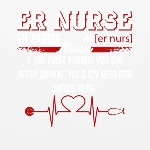 ER Nurse First Person You See Shirt - Mouse pad Horizontal