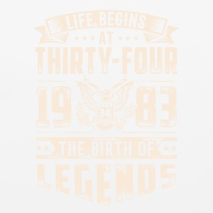 Life Begins at Thirty-Four Legends 1983 for 2017 - Mouse pad Horizontal