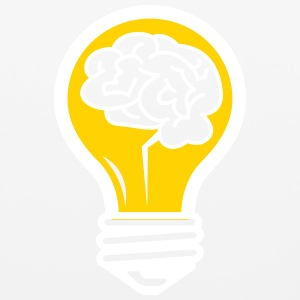 An Idea Popped Up! Light Bulb With A Brain! - Mouse pad Horizontal