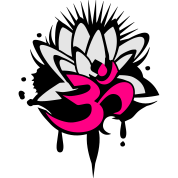 A lotus flower with om symbol by namo spreadshirt a lotus flower with om symbol mightylinksfo
