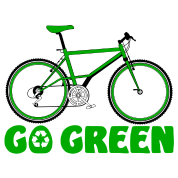 Go Green Earth Day Bike