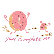 You complete me - donuts