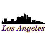 los angeles skyline silhouette la by design all day spreadshirt