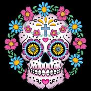 dia de los muertos sugar skull by sillybones spreadshirt