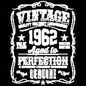 Vintage 1962 Aged To Perfection White Print