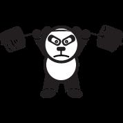 Weightlifting Panda Bear Military Press Mens Premium T Shirt