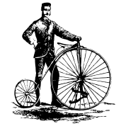 Antique bicycle design art