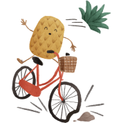 Pineapple Bike Obstacle