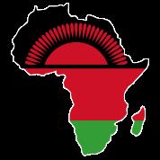 Malawi Flag In Africa Map TShirt Spreadshirt - Malawi map png