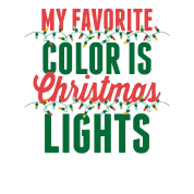 My Favorite Color Is Christmas Lights Mens T Shirt Spreadshirt