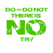 Star Wars do or do not there is no try yoda quote