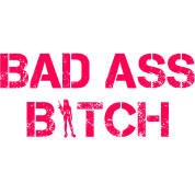 BAD ASS BITCH CUTE WOMENS GRAPHIC