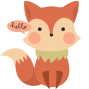 Cute Fox Hello