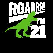 21st birthday funny t rex dinosaur dino 21 years by easyteezy