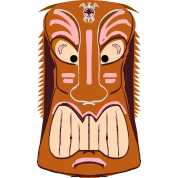 Tiki Mask Graphic Art by | Spreadshirt