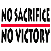 no sacrifice no victory quotes by 519 ideas spreadshirt