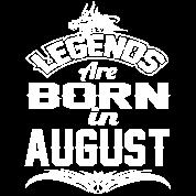 LEGENDS ARE BORN IN AUGUST AUGUST LEGENDS QUOTE SH Men's Premium T