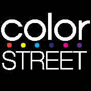 Color Street White Block Logo With Color Dots Women S Premium Hoodie Black