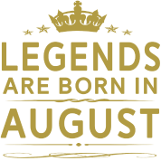 LEGENDS ARE BORN IN AUGUST AUGUST LEGENDS QUOTE SH Women's 3/4