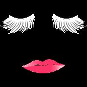 Long Eyelashes Pink Lips - Make Up Artist Women's Premium T-Shirt - black