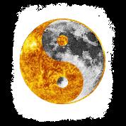 Yin And Yang Sun Moon Light Dark Balance Graphic By