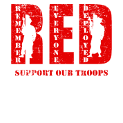 902fcd898 Red Friday Wear Red On Friday Support Our Troops Men S Tall T Shirt