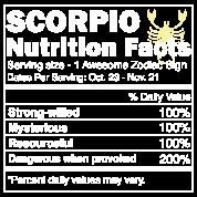 Scorpio Nutrition Facts | Scorpio Horoscope Zodiac Men's