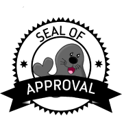Seal Of Approval funny cute animal stamp badge Men's Premium T-Shirt