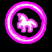 Glow Circle Pink Unicorn Neon Glowing Effect Retro Men's