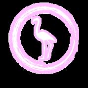 Glow Circle Flamingo Bright Neon Glowing Effect Women's Premium T