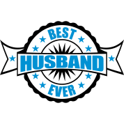 award round circle seal banner stamp best husband by style o mat