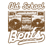 Old School Beats Boom Box Ghetto Blaster Music Men's Premium T-Shirt - black