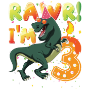 Dinosaur Birthday Shirt 3 Years Old Rawr Im