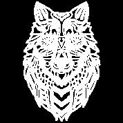 White Wolf Head Mandala Zen Doodle Art Tote Bag Spreadshirt